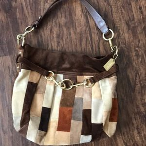 Authentic Coach Hamptons Mosaic Brown Patchwork
